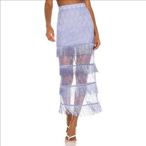 Song of Style Peggy Midi Skirt in Periwinkle Blue